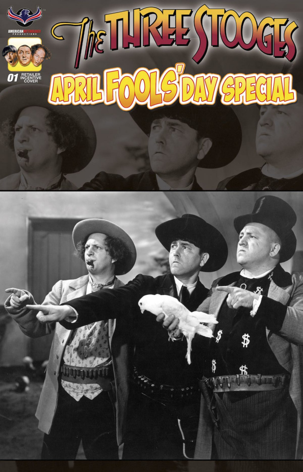 The Three Stooges: April Fools' Day (B&W Photo Cover)
