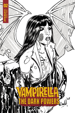 Vampirella: The Dark Powers #2 (15 Copy Federici Zombie B&W Cover)