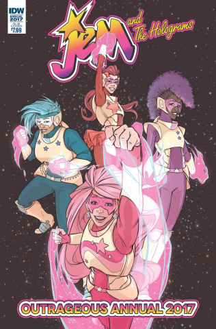 Jem and The Holograms Annual 2017 (Subscription Cover)
