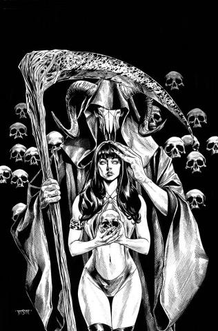 Vengeance of Vampirella #16 (21 Copy Sta. Maria B&W Virgin Cover)