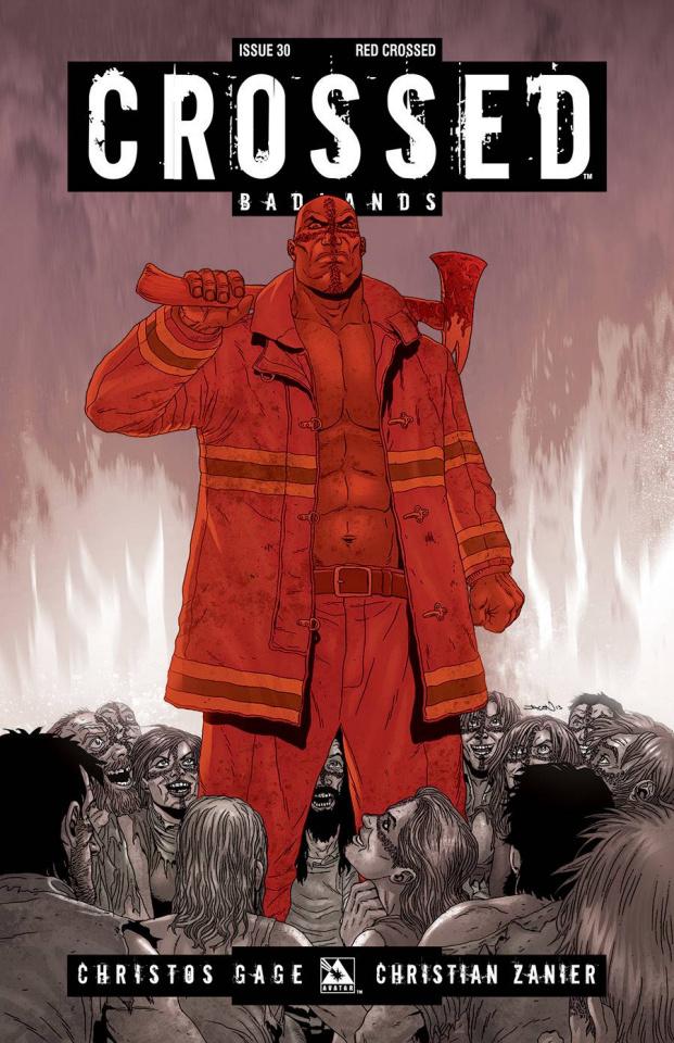Crossed: Badlands #30 (Red Crossed Cover)