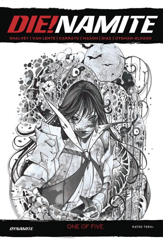 DIE!namite #1 (45 Copy Momoko Vampirella Zombie Living Dead Gray Cover)