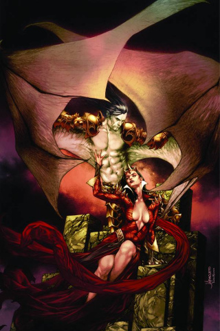 Blood Queen vs. Dracula #1 (Anacleto Virgin Cover)