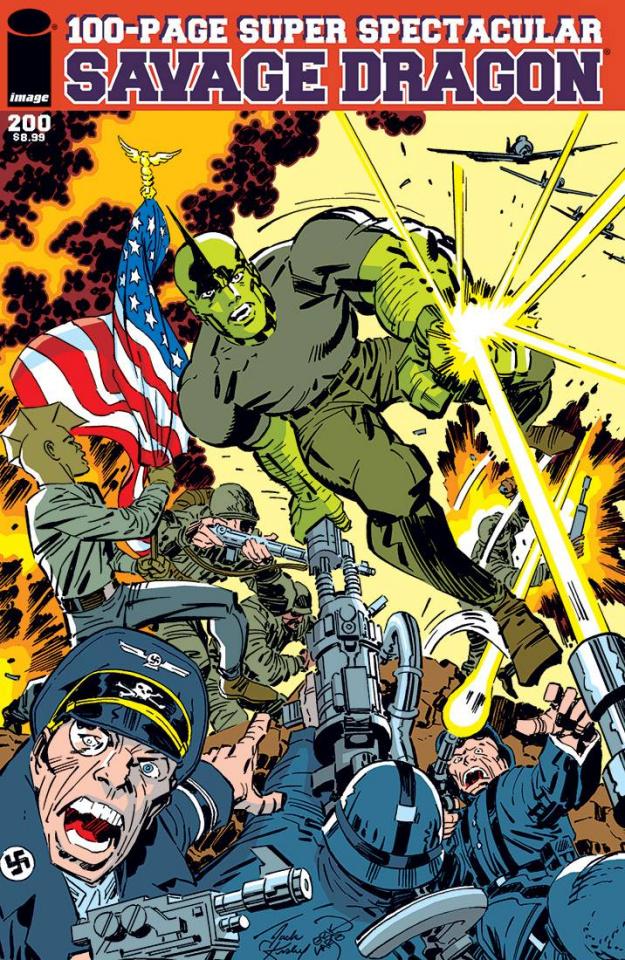 Savage Dragon #200 (Kirby & Larsen Cover)