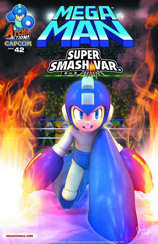 Mega Man #42 (Super Smash Cover)