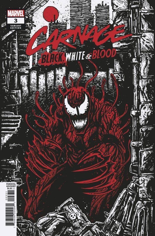 Carnage: Black, White, and Blood #3 (McCrea Cover)