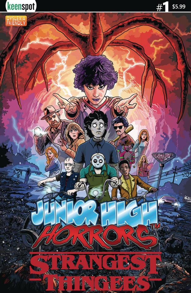 Junior High Horrors: Strangest Thingees #1 (Stranger Things Cover)