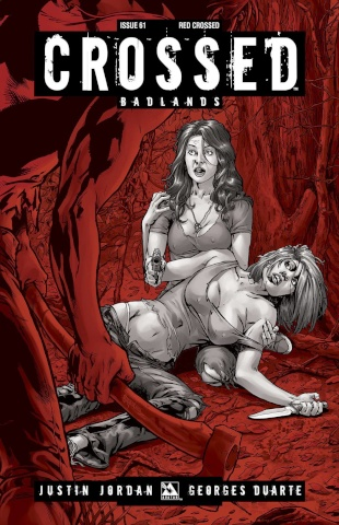 Crossed: Badlands #61 (Red Crossed Cover)