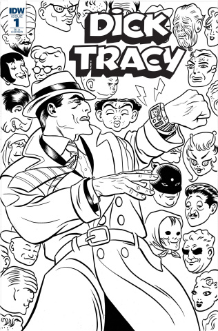 Dick Tracy: Dead or Alive #1 (10 Copy Coloring Book Cover)