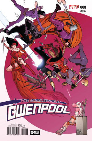 Gwenpool #8 (Ferry Divided We Stand Cover)