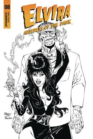 Elvira: Mistress of the Dark #8 (20 Copy Royle B&W Cover)