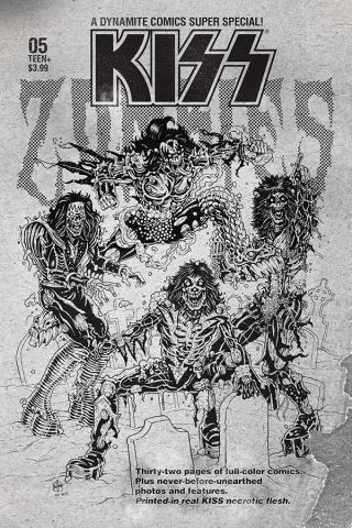 KISS: Zombies #5 (7 Copy Haeser B&W Cover)