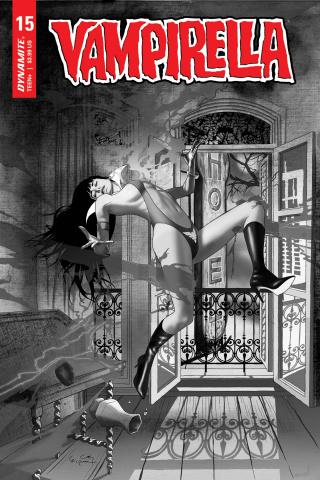 Vampirella #15 (20 Copy Gunduz B&W Cover)