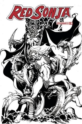 Red Sonja #19 (11 Copy Castro B&W Cover)