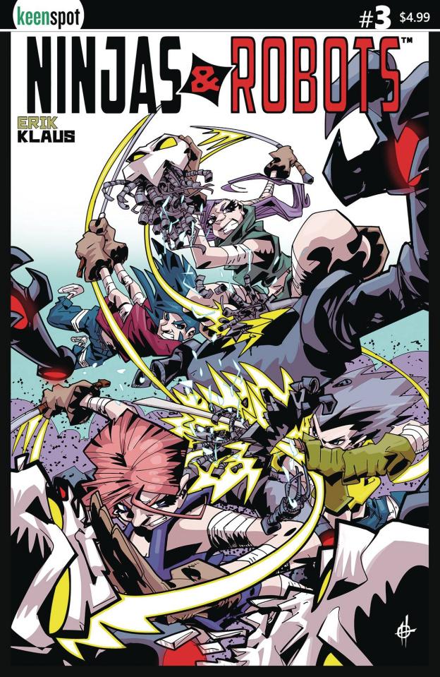 Ninjas & Robots #3 (Scott Cover)