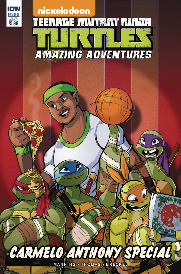 Teenage Mutant Ninja Turtles: Amazing Adventures Carmelo Anthony Special (Subscription Cover)