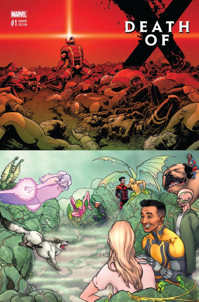 Death of X #1 (Kuder Wraparound Cover)