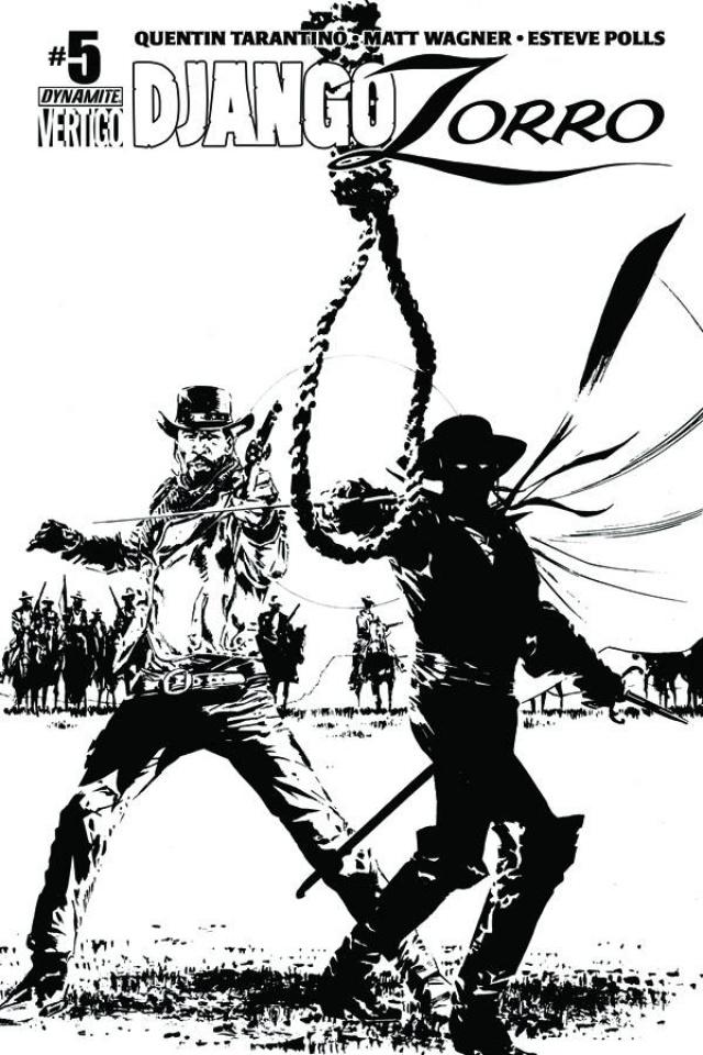Django / Zorro #5 (15 Copy Guice B&W Cover)