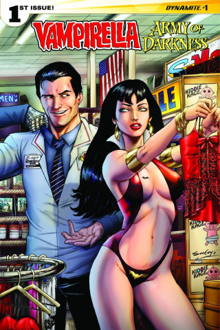 Vampirella / Army of Darkness #1 (Seeley Cover)