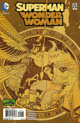 Superman / Wonder Woman #22 (Monsters Cover)