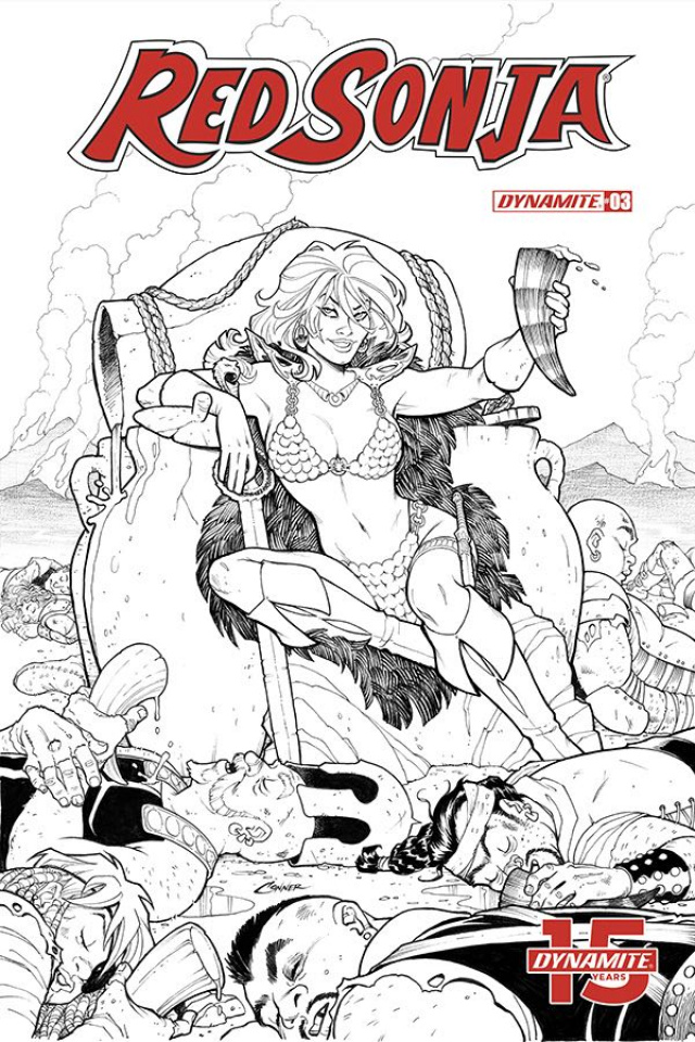 Red Sonja #3 (20 Copy Conner B&W Cover)