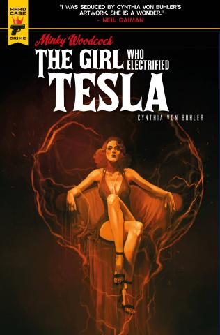 Minky Woodcock: The Girl Who Electrified Tesla #3 (Caranfa Cover)