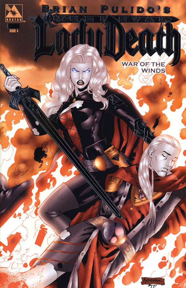 Medieval Lady Death: War of the Winds #4 (Platinum Foil Cover)