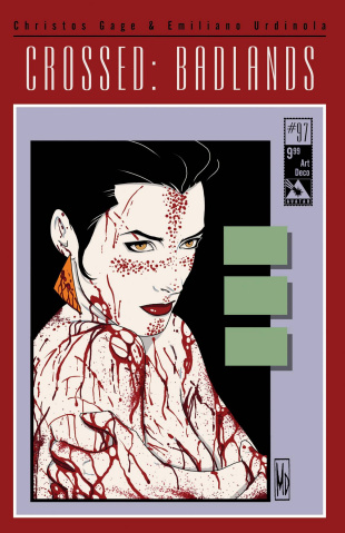Crossed: Badlands #97 (Art Deco Cover)