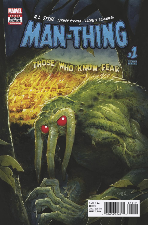 Man-Thing #1 (2nd Printing Crook Cover)