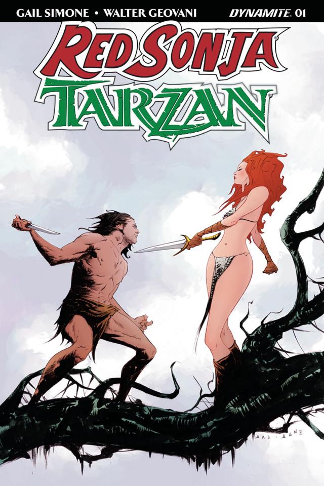 Red Sonja / Tarzan #1 (Lee Cover)