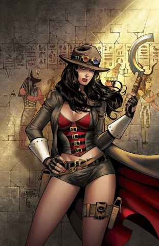 Grimm Fairy Tales: Van Helsing vs. The Mummy of Amun Ra #4 (Salo Cover)