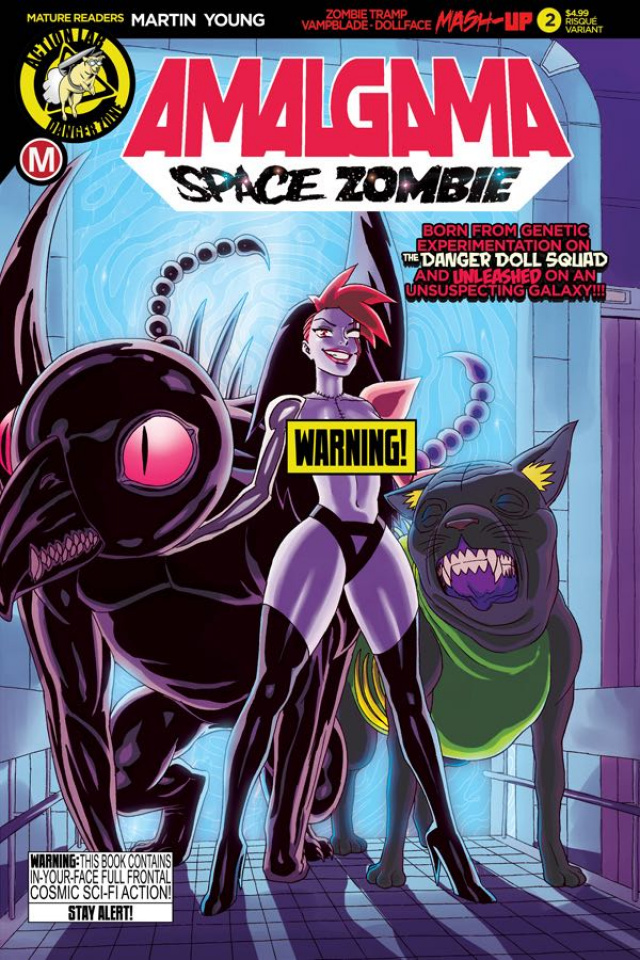 Amalgama: Space Zombie #2 (Young Risque Cover)