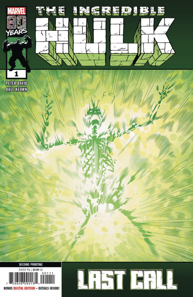 The Incredible Hulk: Last Call #1 (Keown 2nd Printing)