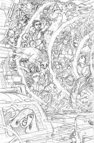 Sirens #5 (50 Copy Pencils Left Cover)