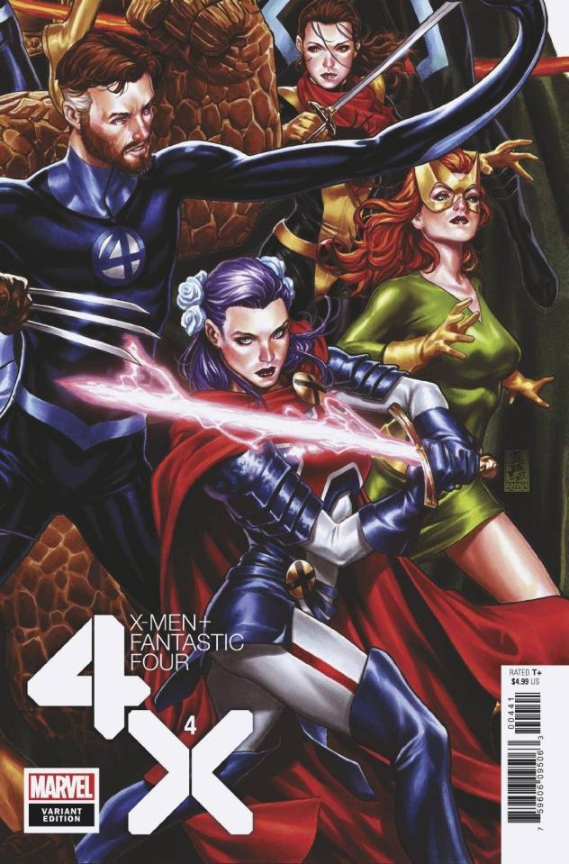 X-Men + Fantastic Four #4 (Brooks Connecting Cover)