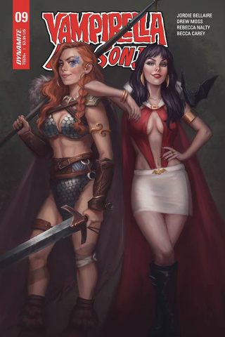 Vampirella / Red Sonja #9 (Sampaio Cover)