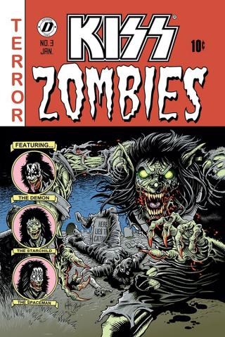 KISS: Zombies #3 (Haeser Bonus Cover)