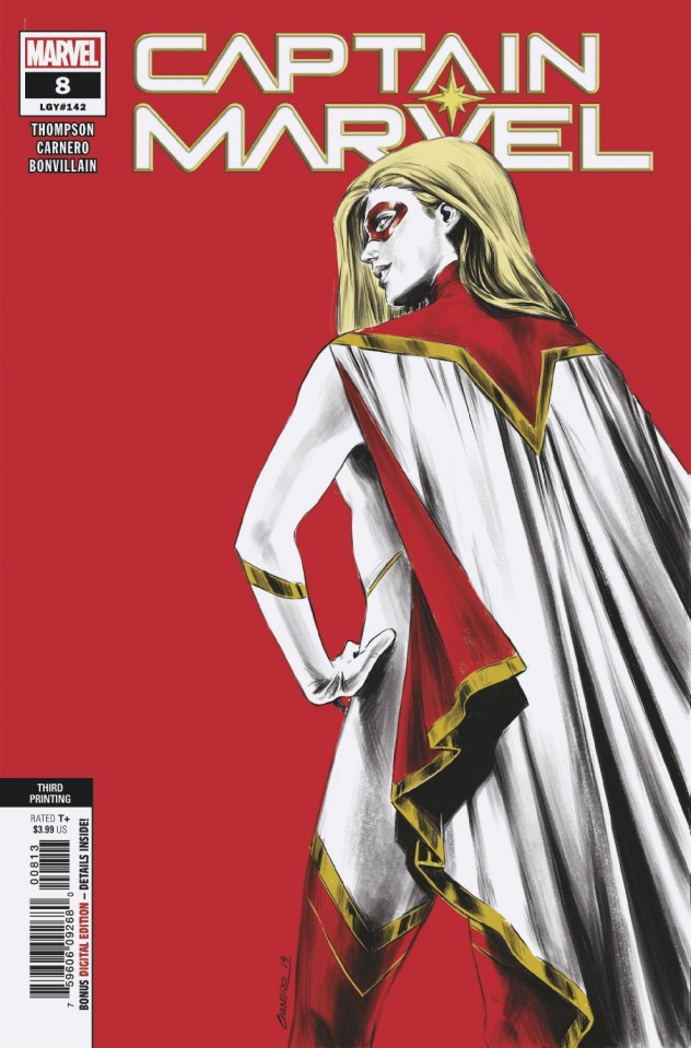 Captain Marvel #8 (Carnero 3rd Printing)
