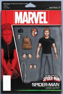 Peter Parker: The Spectacular Spider-Man #1 (Christopher Action Figure Cover)