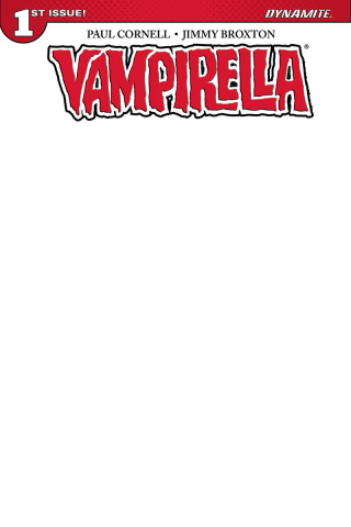 Vampirella #1 (Blank Authentix Cover)
