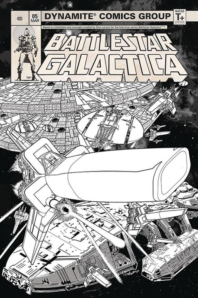 Battlestar Galactica Classic #5 (20 Copy HDR B&W Cover)