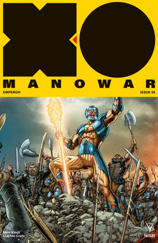 X-O Manowar #8 (20 Copy Interlock Ryp Cover)