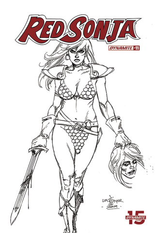 Red Sonja #11 (30 Copy Linsner B&W Cover)