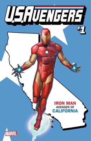 U.S.Avengers #1 (Reis California State Cover)