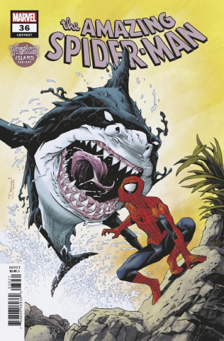 The Amazing Spider-Man #36 (Shalvey Venom Island Cover)