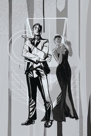 James Bond #4 (10 Copy Richardson Greyscale Cover)