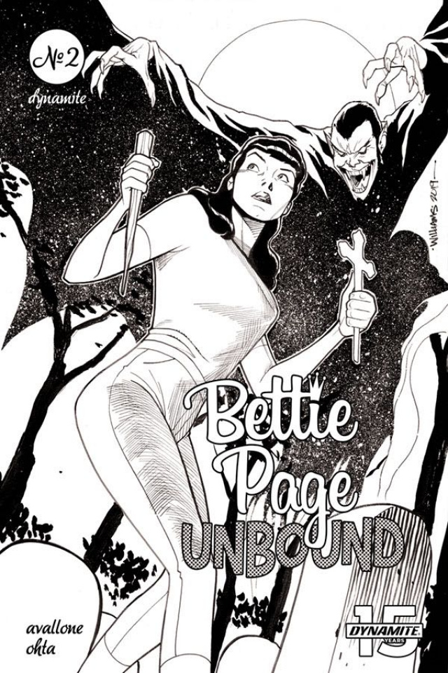 Bettie Page: Unbound #2 (20 Copy Williams B&W Cover)