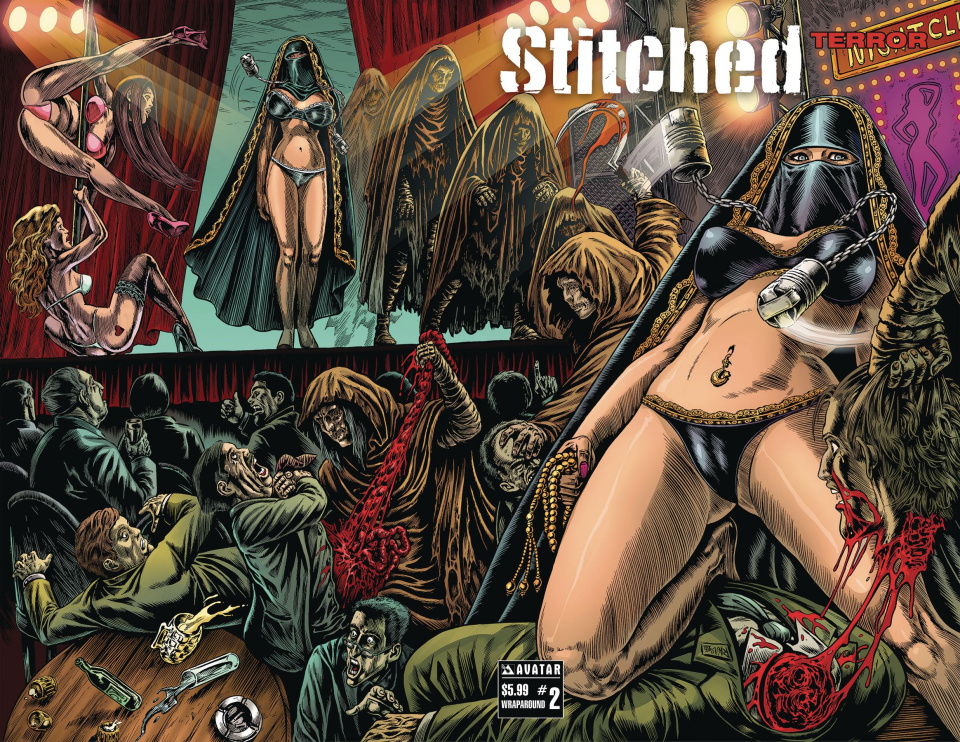 Stitched: Terror #2 (Wrap Cover)