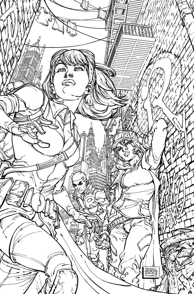 We Are Robin #8 (Adult Coloring Book Cover)