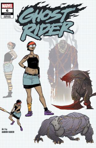 Ghost Rider #6 (Kuder Design Cover)